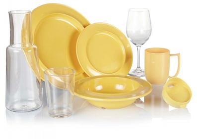 Yellow Crockery set image