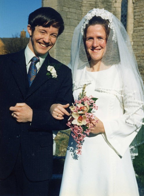 John and Rosemary on their wedding day